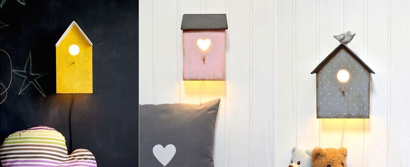 Lámpara casita para dormitorios infantiles