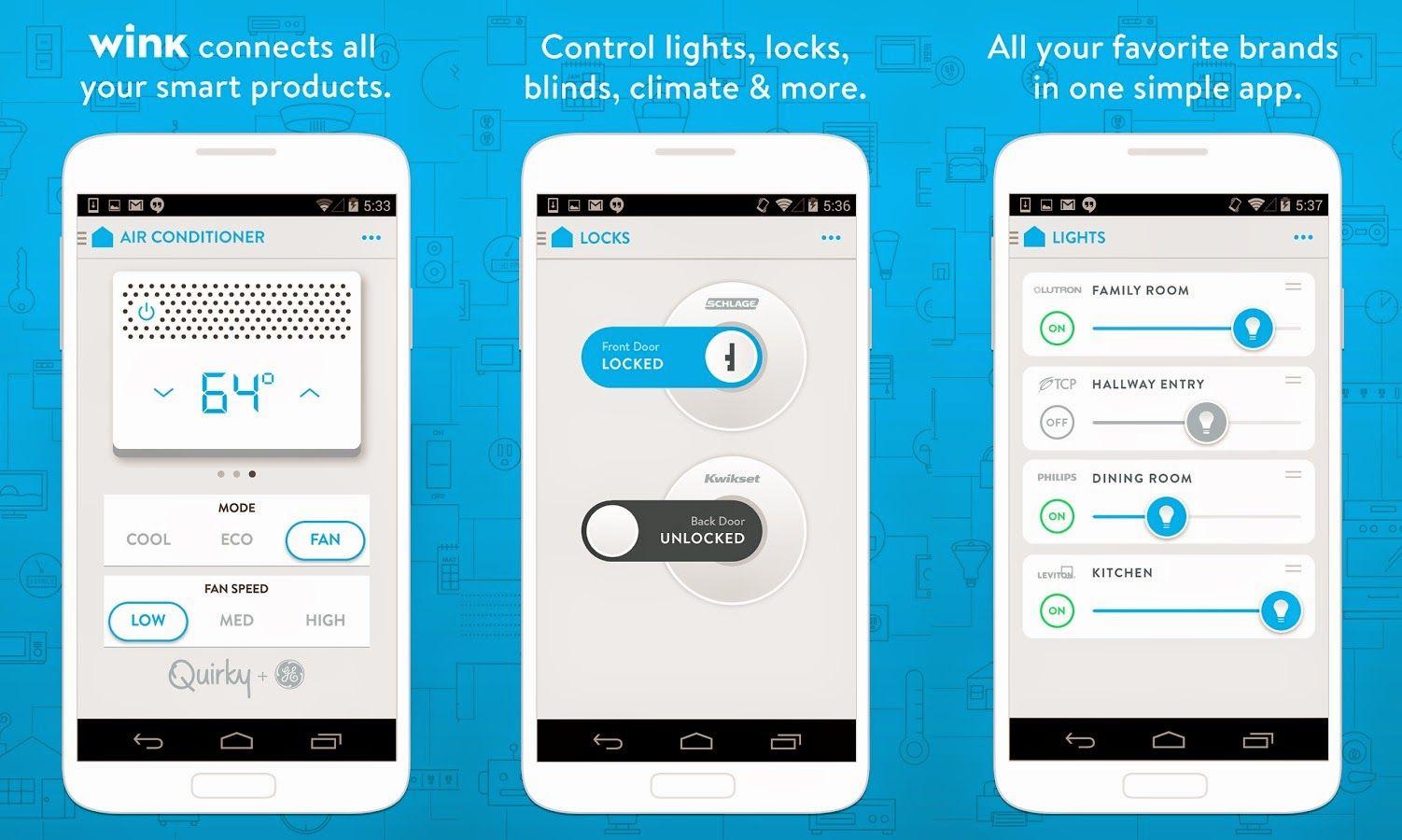App Wink domótica para el hogar