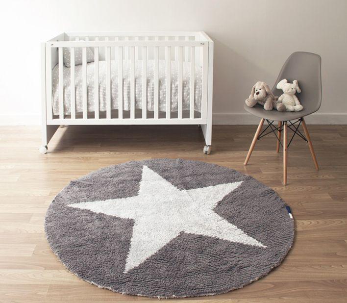 Alfombra de estrellas para dormitorios infantiles