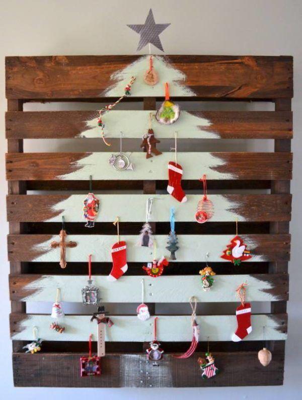 Árbol navidad con palet. Ideas para Navidad DIY