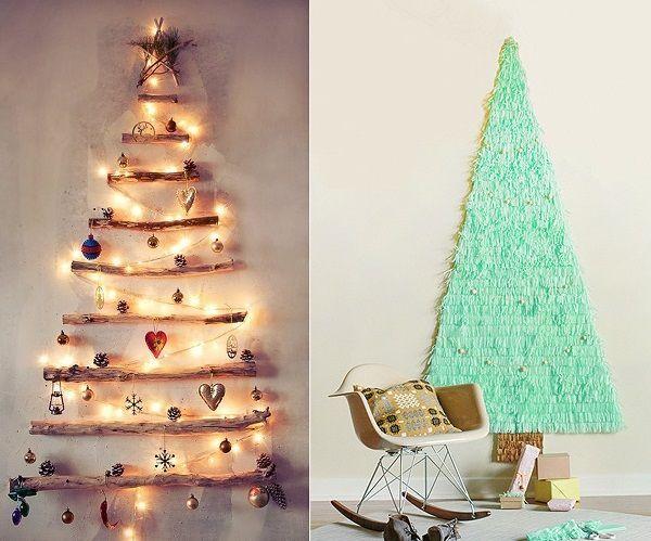Árbol navidad en la pared. Ideas para Navidad DIYÁrbol navidad en la pared. Ideas para Navidad DIY