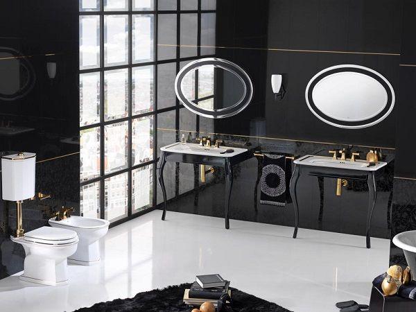 Baño estilo belle epoque
