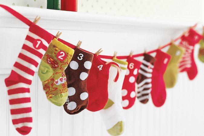 Calendario adviento calcetines