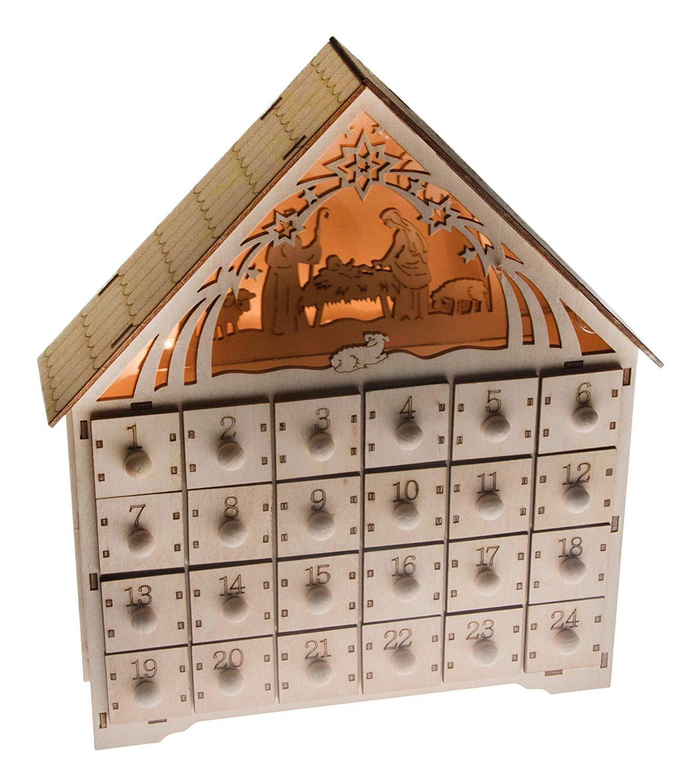 Calendario adviento de madera