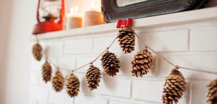Piña para adornar en navidad