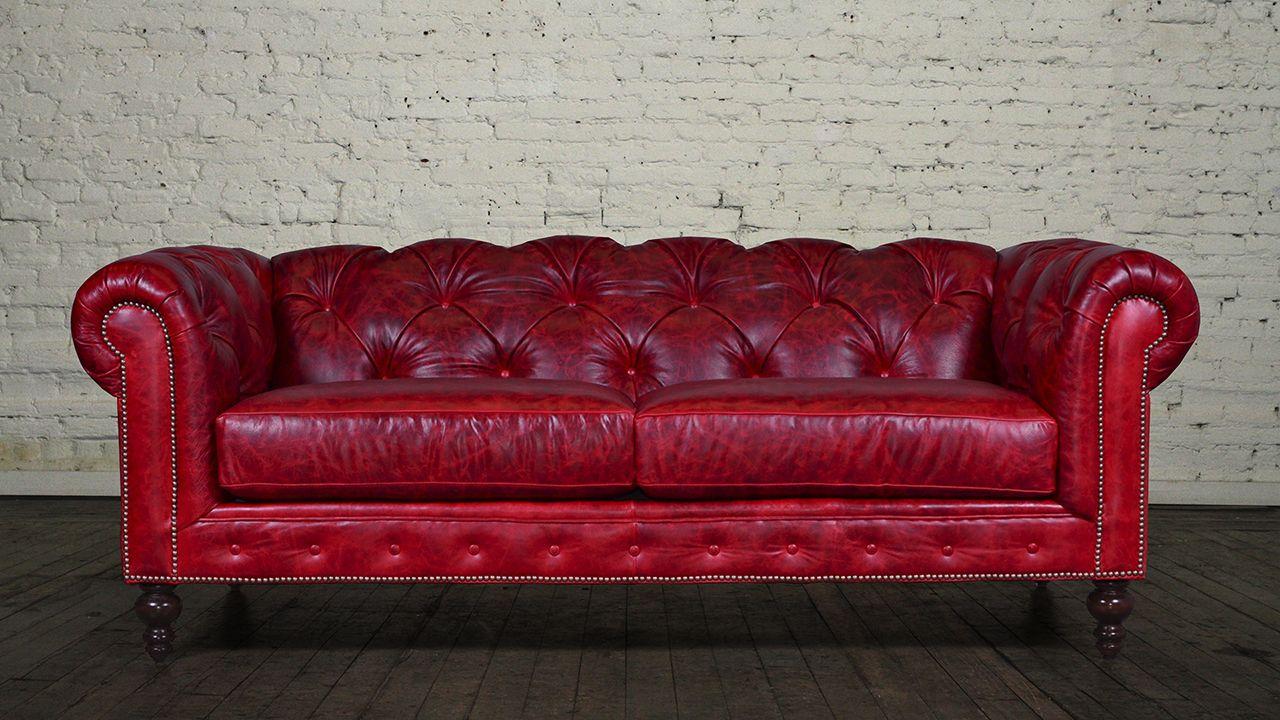 Sofá Chesterfield rojo