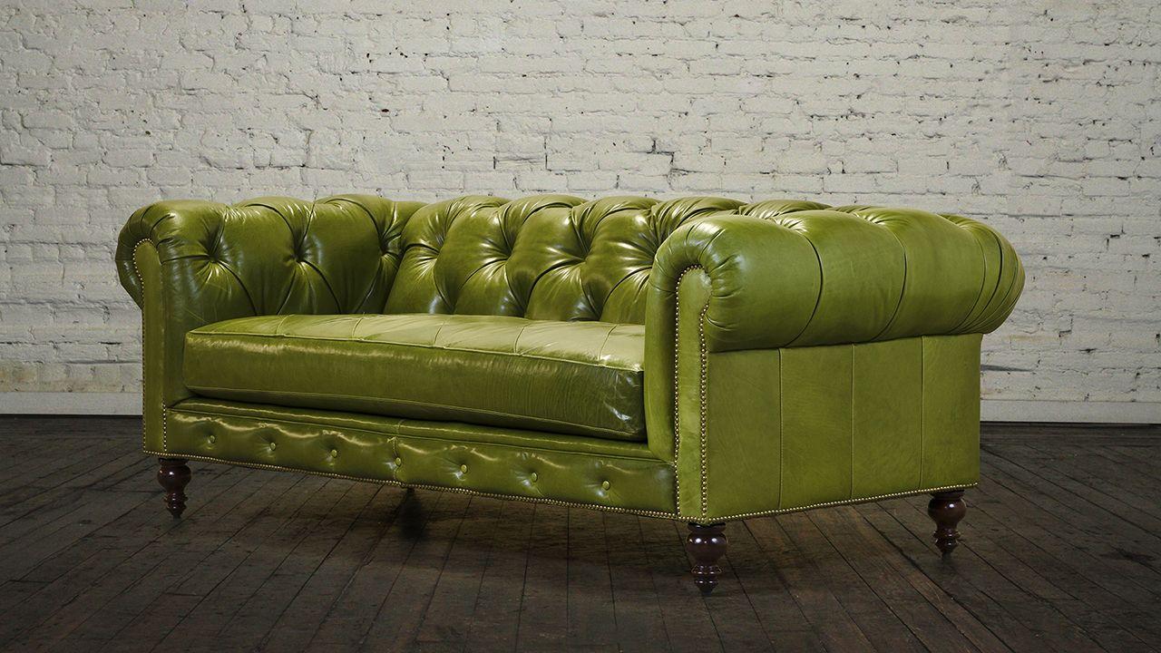 Sofá Chesterfield verde