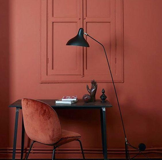 Color terracota en el hogar