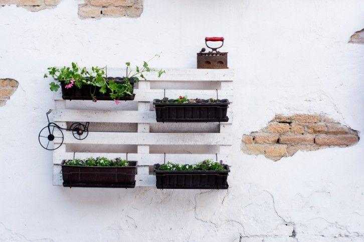 Macetero múltiple de palets para terraza y espacios outdoor