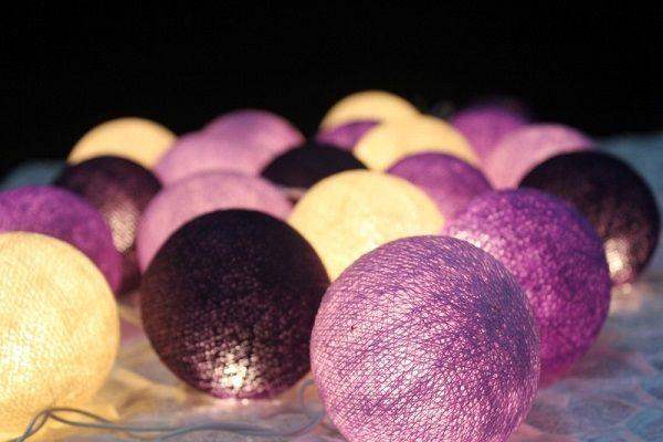 Guirnalda de bolas y luces