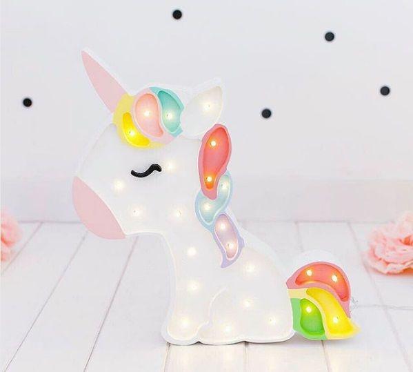 Lámpara unicornio para dormitorios infantiles