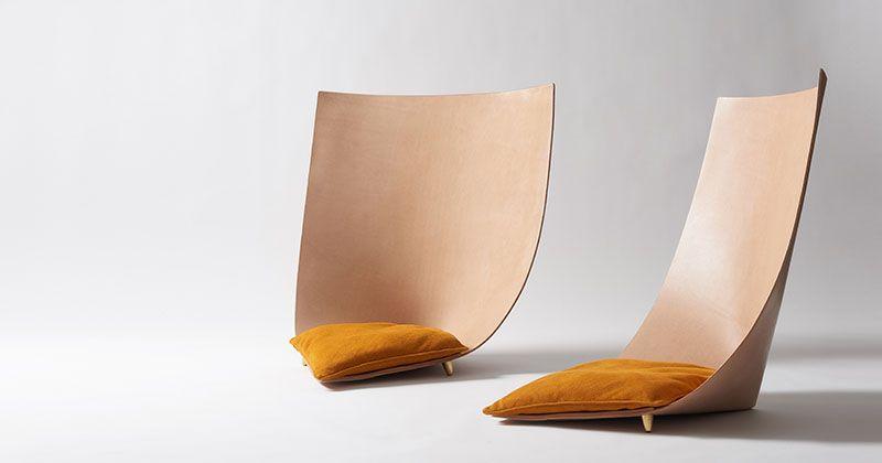 silla moderna cuero