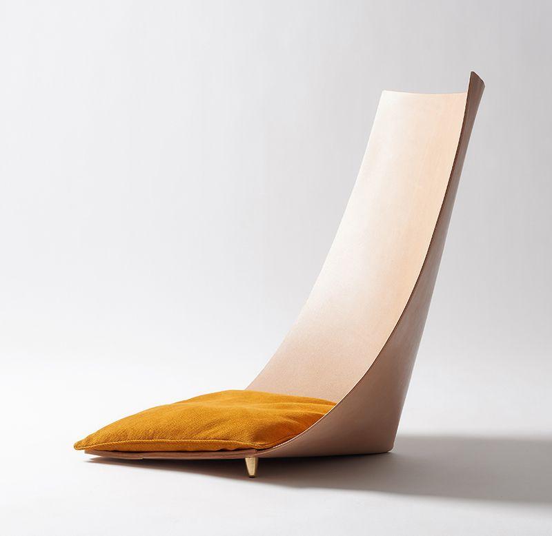 diseno de silla moderna cuero