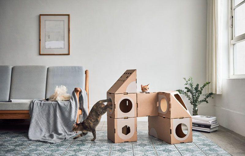 Mobiliario para gatos de cartón juego