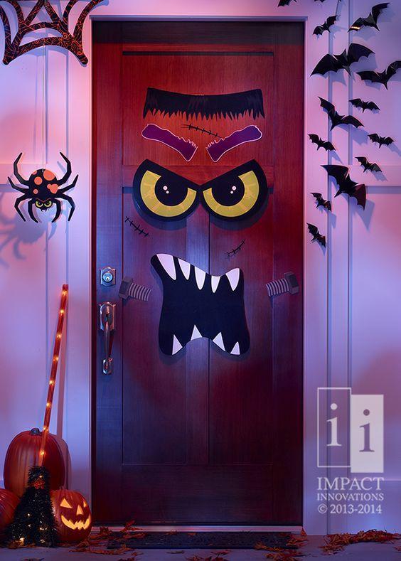 Decoración puertas de miedo para Halloween