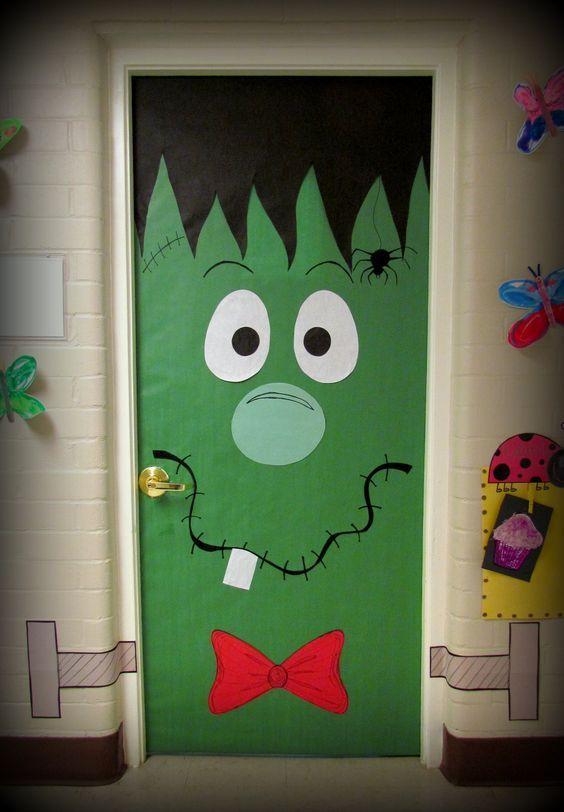 Decoración puertas de Halloween para niños