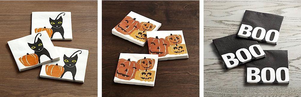 servilletas para la mesa en halloween