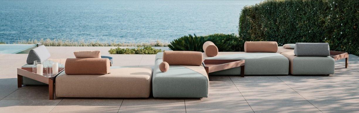 Sofá modular de exterior de diseño