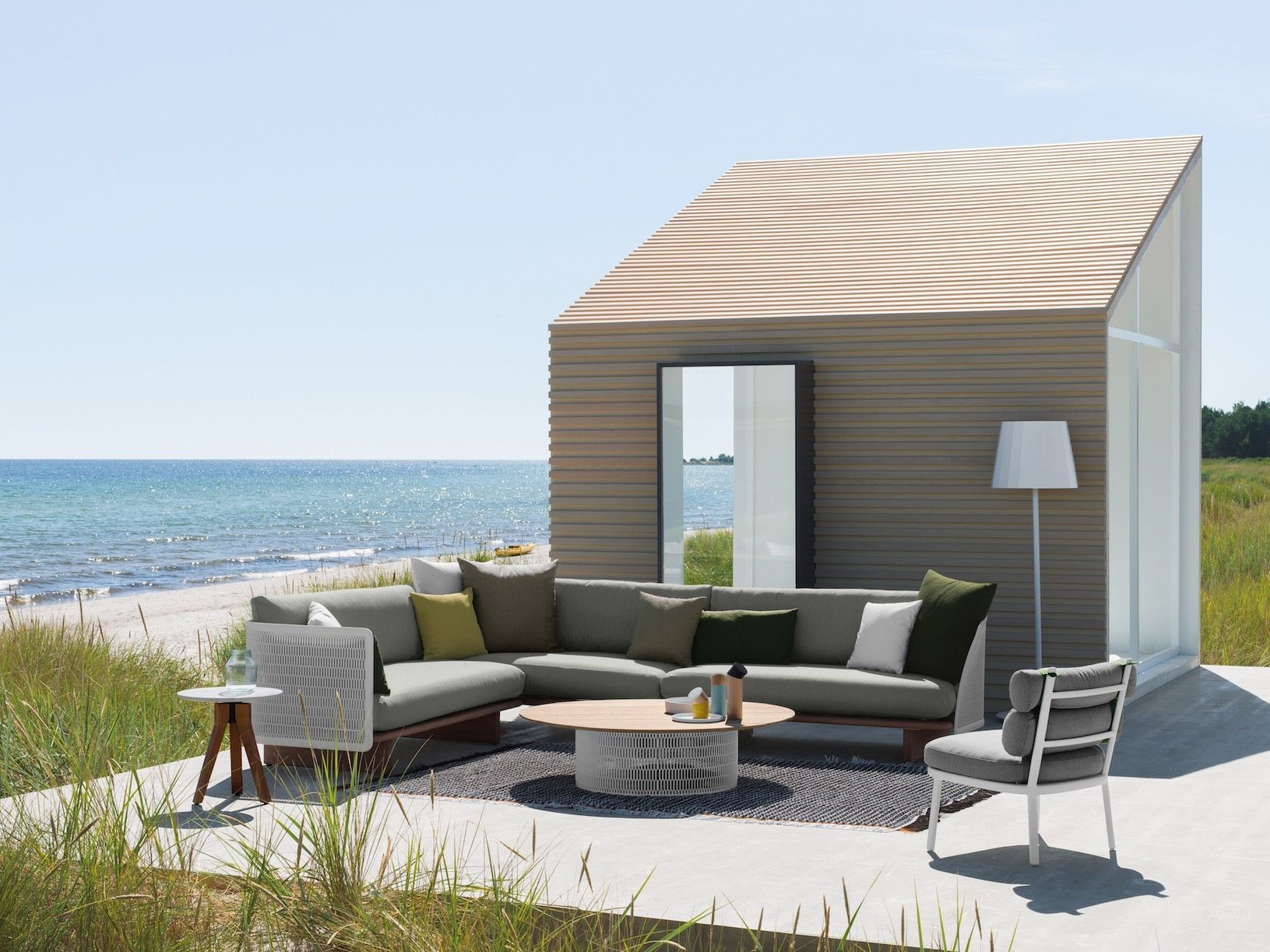 Sofá de esquina de jardín exterior de diseño