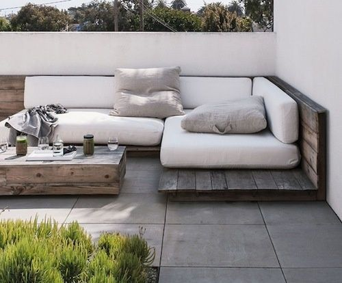 Sofá y mesa de centro de palets