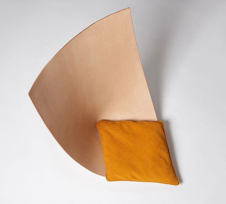 silla cuero moderna
