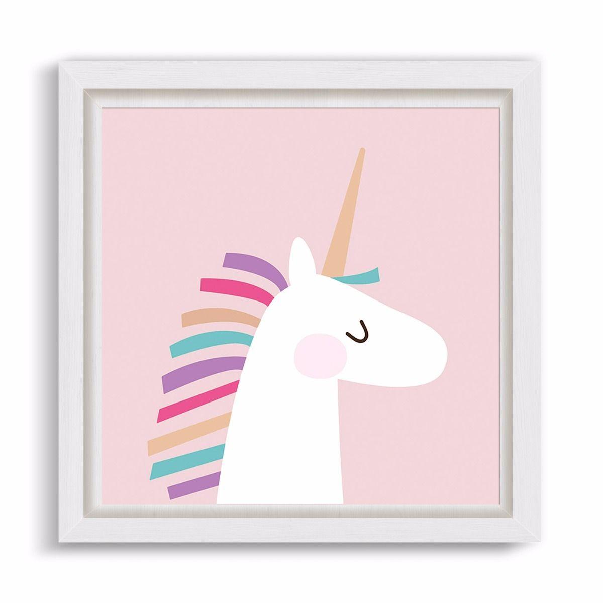 Unicornio en cuadro infantil, láminas