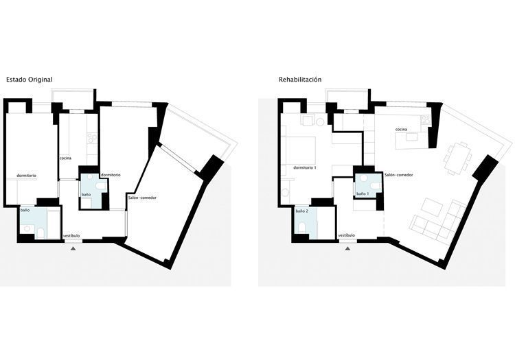 Diseño de interiores Rehabilitación de vivienda